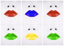 Viele Lippenverschiedenen Farben Lizenzfreies Stockfoto