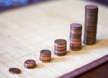 Viele Münzen Stockfotos