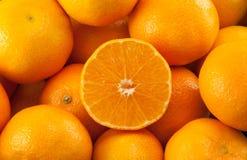 Viele Mandarinen oder Tangerinen Lizenzfreies Stockfoto