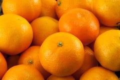 Viele Mandarinen oder Tangerinen Lizenzfreies Stockbild