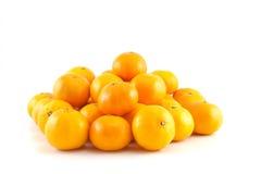 Viele Mandarinen oder Tangerinen Lizenzfreie Stockfotos