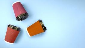 Viele mehrfarbigen Schalen Kopieren Sie Platz stockfoto