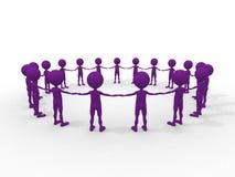 Viele Menschen Mann-gegen-Mann in einem Kreis Lizenzfreies Stockbild