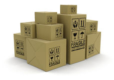 Viele Pakete (Beschneidungspfad eingeschlossen) Stock Abbildung