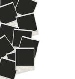 Viele polaroidfotos Lizenzfreie Stockfotos