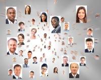 Viele Porträts von Geschäftsleuten Lizenzfreie Stockfotos