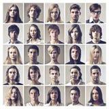 Viele Portraits Stockfoto