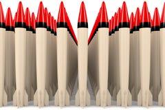 Viele Raketen Stockbild