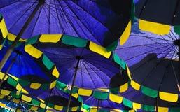 Viele Regenschirme Stockfoto