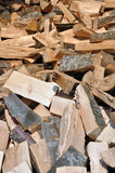 Viele Reihen des Bauholzes Stockfotografie