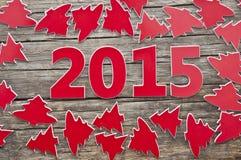 Viele roten Weihnachtsbäume als Hintergrund Lizenzfreie Stockbilder