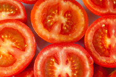 Geschnittene Tomaten stockbilder