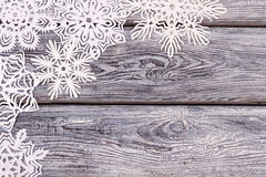 Viele schönen Weihnachtsschneeflocken Lizenzfreies Stockfoto