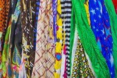 Viele Schals Stockbild