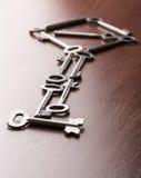 Viele Schlüssel in Form eines Schlüssels Stockfoto