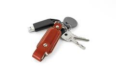 Viele Schlüssel und flashdrive lizenzfreie stockfotografie