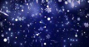 Viele Schneeflocken, die in die Schneefälle wirbeln graphiken stock abbildung
