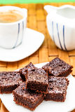 Viele Schokoladenkuchen Stockfoto