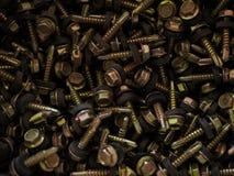 Viele Schrauben lizenzfreie stockfotografie