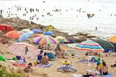 Viele Touristen bei Gallipoli Lizenzfreie Stockfotografie