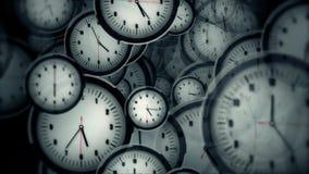 Viele Uhren Timelapse stock footage