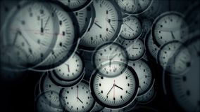 Viele Uhren Timelapse stock video footage