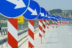 Viele Verkehrsschilder Stockfoto