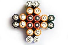 Viele verschiedenen Batterien Lizenzfreie Stockfotografie