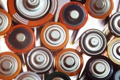 Viele verschiedenen Batterien Lizenzfreies Stockbild