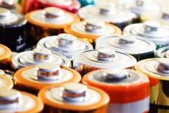 Viele verschiedenen Batterien Lizenzfreies Stockfoto