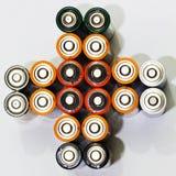 Viele verschiedenen Batterien Lizenzfreie Stockfotos