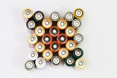 Viele verschiedenen Batterien Stockbild