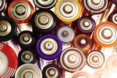 Viele verschiedenen Batterien Lizenzfreie Stockbilder