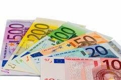 Viele verschiedenen Eurorechnungen Lizenzfreie Stockfotos