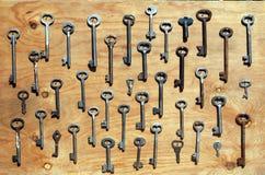 Viele verschiedenen Schlüssel, Hobbys und Versammlungen, Ausstellung Stockbild