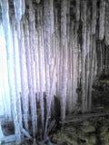 Viele von hellen Eiszapfen Lizenzfreies Stockbild