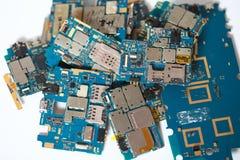 Viele weggeworfenen Leiterplatten Chip, Schaltkreis stockbild
