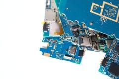 Viele weggeworfenen Leiterplatten Chip, Schaltkreis stockfoto