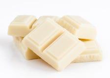 Viele weiße Schokolade lizenzfreie stockfotos