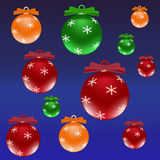 Viele Weihnachten farbigen Bälle stockfoto