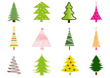 Viele Weihnachtsbäume Vektor Abbildung