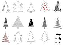 Viele Weihnachtsbäume Stock Abbildung