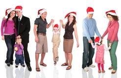 Viele Weihnachtsfamilien Lizenzfreies Stockfoto