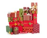 Viele Weihnachtsgeschenke Stockfotos