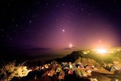 Viele Zelte an einem camsite Lizenzfreies Stockfoto