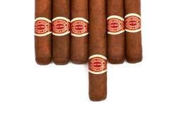 Viele Zigarren auf dem Tisch Lizenzfreies Stockfoto