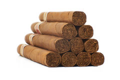 Viele Zigarren auf dem Tisch Stockbilder