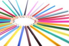 Vielfarbige Bleistifte Lizenzfreie Stockbilder