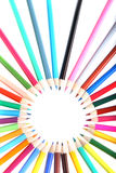 Vielfarbige Bleistifte Stockfotografie