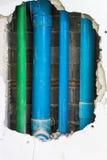 Vielzahl der Abwasserleitung Lizenzfreies Stockfoto